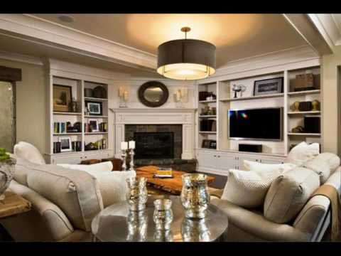 Living Room With Corner Fireplace room with corner fireplace layout - youtube