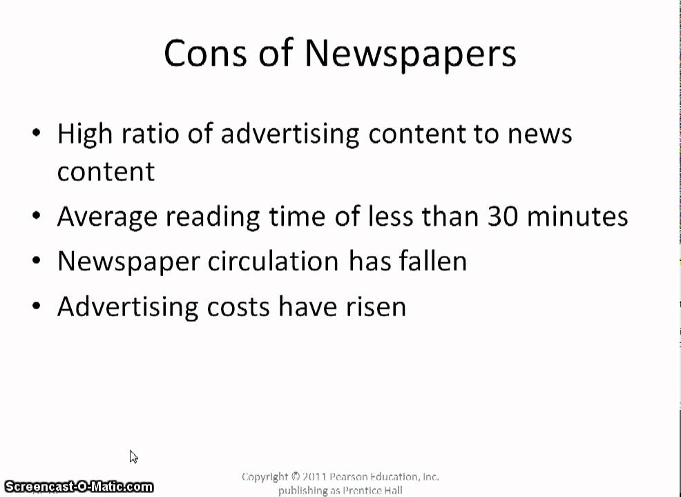 An examination of the pros and cons of the media