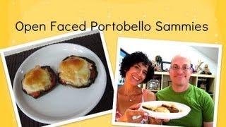Turkey Provolone Open Faced Portobello Sandwiches (how To)