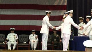 Ensign Christopher Payne, United States Navy, Receiving Commission at Graduation