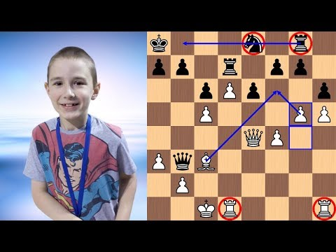 Tihon Chernyaev vs Aleksandrs Karasevics | 2018 FIDE Cadets World Rapid Chess Championship
