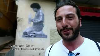 San Spiga, l'artista argentino riporta Maradona nei vicoli di Napoli