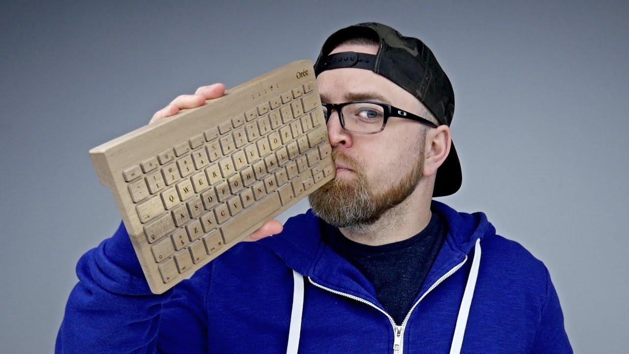 A Keyboard Made Of Wood Youtube