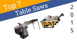 7 Best Table Saws 2015