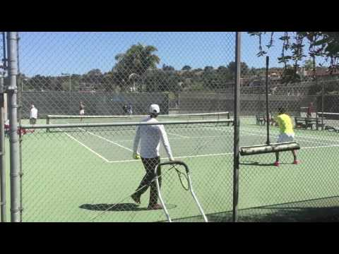 Mackie McDonald, Clay Thompson, Tom Fawcett, Emilio Gomez Practice 2016 Aptos Challenger