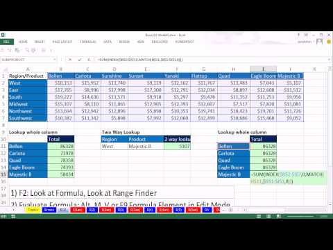 Highline Excel 2013 Class Video 27: How To Track Down Excel Formula Errors (16 Examples)