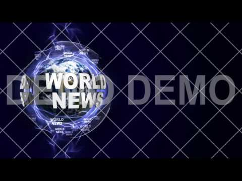 WORLD NEWS, Motion Graphics Design Stock Animation, Background, Television, Rendering, CGI, 4k