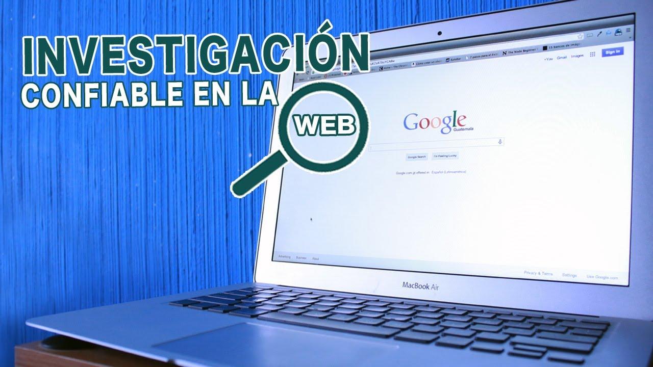¿Cómo investigar de manera confiable en la web? - YouTube
