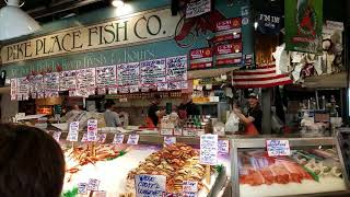 Fish Toss @ Pike Place Fish Co. in Seattle, WA ~ July 2017