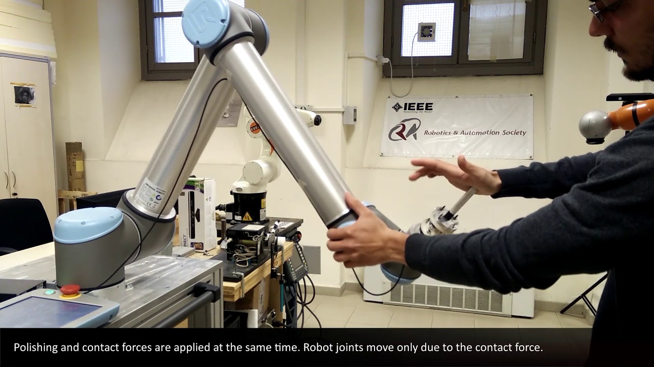SYMPLEXITY video: Collaborative human-robot task with a UR10 robot mounting  a F/T sensor