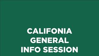 California Campus Info Session
