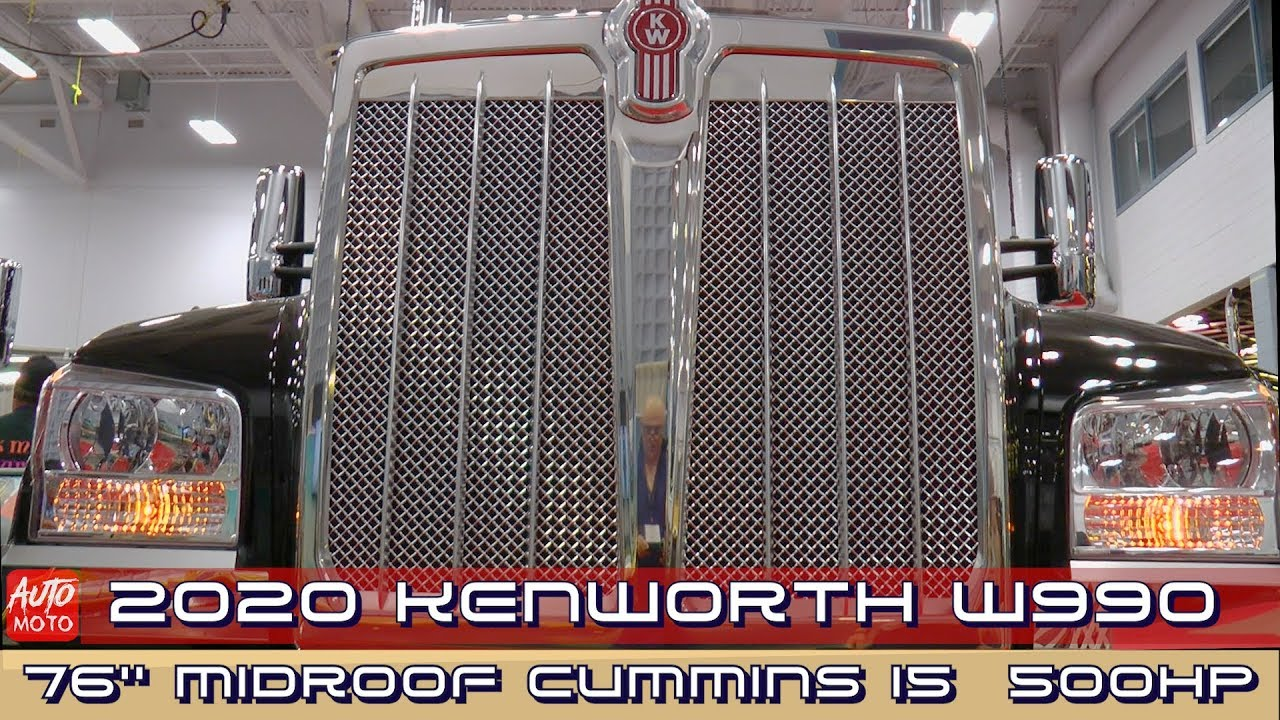 2020 Kenworth W990 76''MidRoof Cummins X15 500hp - Exterior And