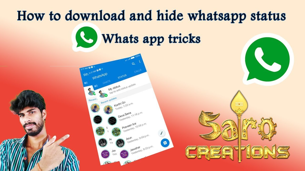 How To Download And Hide Whats App Status New Whatsapp Tricks 2018