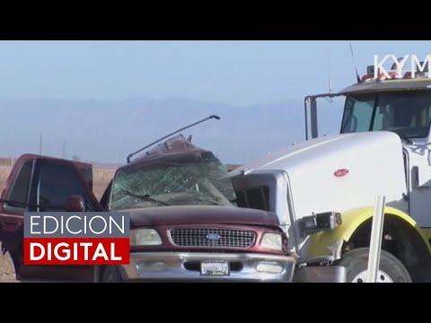 Al menos 15 muertos y varios heridos en California tras el choque entre una camioneta y un remolque