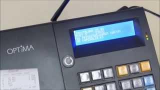 Az OPTIMA QMP50 Online pénztárgép szoftverfrissítése