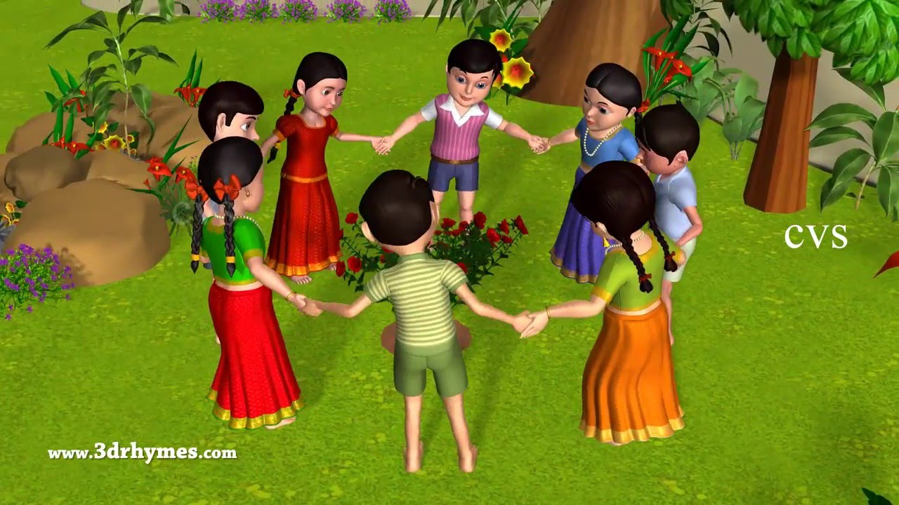 Ringa Ringa Roses | Ring Around the Rosie -3D Kids Songs & Nursery Rhymes for children