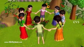 Ringa Ringa Roses | Ring Around the Rosie -3D Kid's Songs & Nursery Rhymes for children