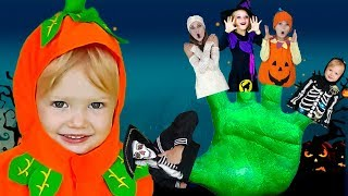 Halloween Stories with Finger Family   Baby Shark by Olivia   Kids Songs by Olivia Kids Tube