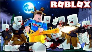 BATTLE MILLIONS OF POWERFUL ZOMBIES IN ROBLOX! (ROBLOX ALL OUT ZOMBIES)