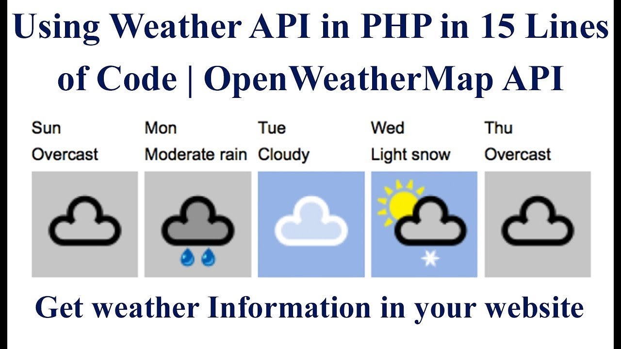 Using Weather API in PHP in 15 Lines of Code | OpenWeatherMap API | Get  weather Information 🔥🔥