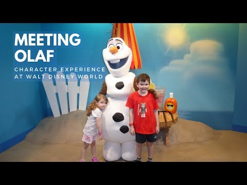 Meeting Olaf from Frozen at Disney's Hollywood Studios