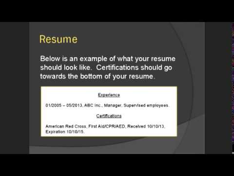 CPR & First Aid: Certifications you NEED on your resume! - YouTube
