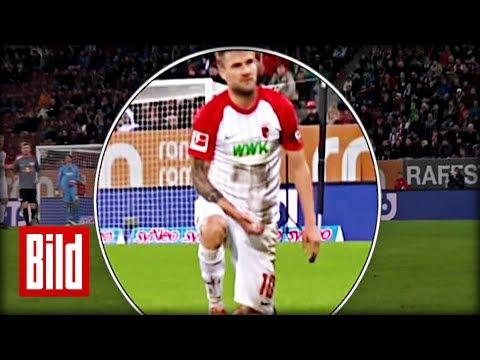 Augsburgs Baier von DFB bestraft - Sex-Geste im Spiel gegen Leipzig