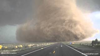 Extreme up-close video of tornado near Wray, CO
