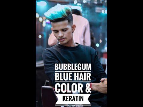Bubblegum Blue Hair Colour & Keratin