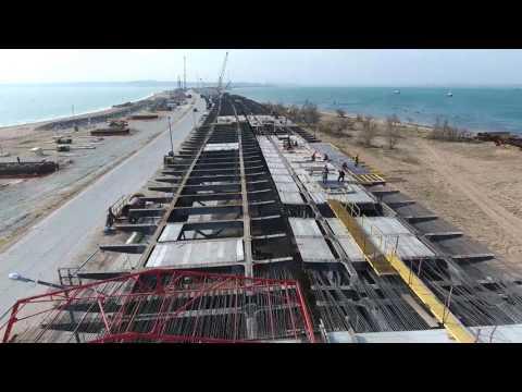 Возведено 200 опор Крымского моста Крымский мост