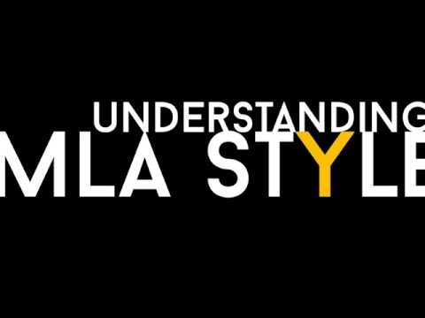 Understanding MLA Style (8th edition, 2016 updates)