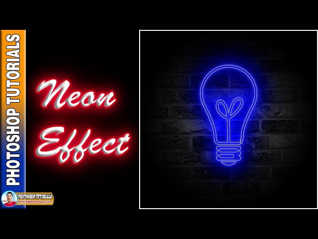 Cách Tạo Hiệu Ứng Neon Hình Bóng Đèn 🔴 MrTriet Photoshop Tutorials