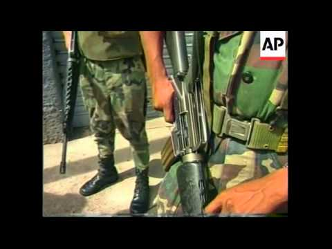 HONDURAS: SOLDIERS PATROL STREETS IN ATTEMPT TO STOP CRIME