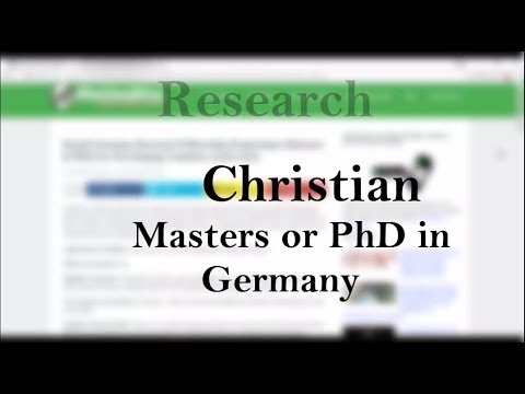 How to Apply: KAAD Scholarship in Germany for Christians from (Africa) Developing Countries