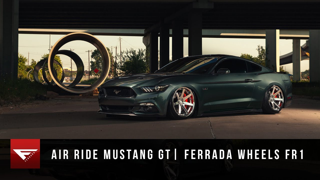 2015 Mustang Gt Bagged Air Ride Ferrada Wheels Fr1