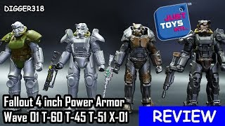 Fallout 4 inch Power Armor Mega Merge Glyos Action Figures Wave 01 T 60 T 45 T 51 X 01 Toy Review 4K