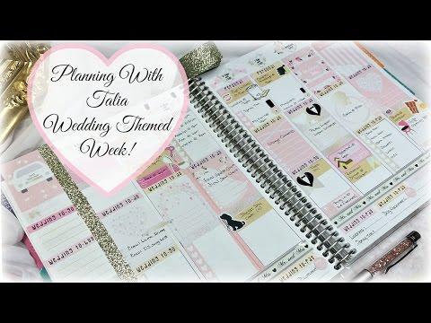 Plan With Me | My Wedding Week!