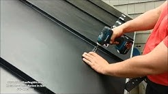 """ICE DAMS PREVENTION - Snow Guards on Metal Roof Ice Belt Panel"" by MetalRoofingMA.com"