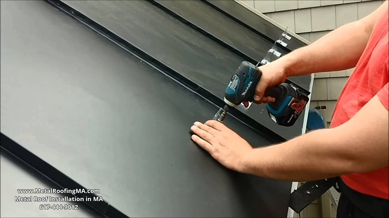 Ice Dams Prevention Snow Guards On Metal Roof Belt Panel By Metalroofingma