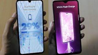 Vivo V11 Pro Dual Engine Fast Charging Vs Oppo F9 Pro VOOC Flash Charge Test thumbnail