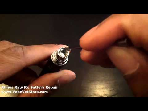 Atmos Raw Rx Battery Repair  (and eVic No Atomizer Found / G5, etc): How to Fix Vaporizer Battery