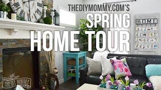 2016 Spring Home Tour: Nature Inspired Vintage Farmhouse Decor Ideas