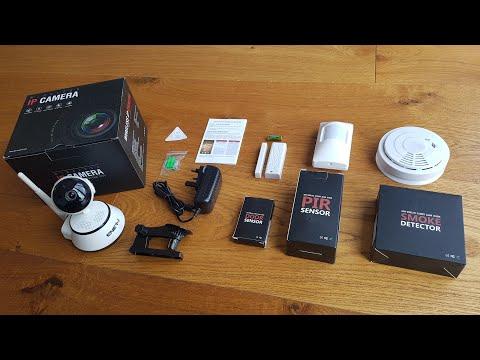 Unboxing of a ENERJ Home Security Kit Alarm Smart Wireless System Includes Camera,PIR,Door Sensor