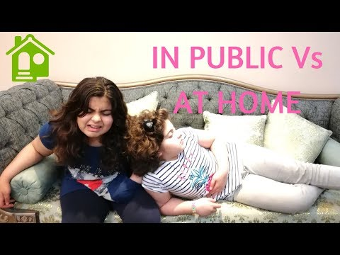 IN PUBLIC Vs AT HOME | AZee