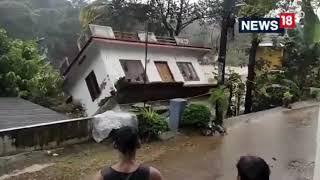 Kerala Flood 2021   House Washed Away By Strong Kerala Flood   Viral Video   Kerala Rain  CNN News18