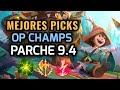 MEJORES PICKS Y CAMPEONES OP - PARCHE 9.4 League of Legends 2019 - OP Champs LOL Temporada 9