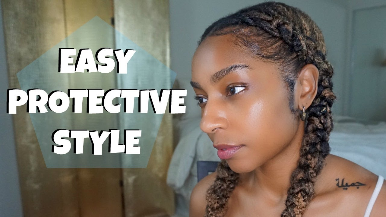 Easy Protective Style For Short Natural Hair