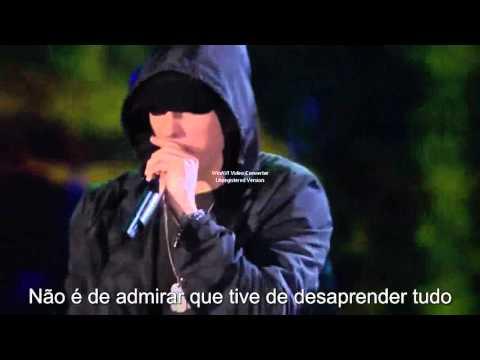 Eminem - Guts Over Fear Ao Vivo (Tradução)