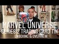 Marvel Universe Series 2 Trading Card Tin Unboxing & Overview