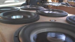 SLOW Motion Subwoofer Excursion w/ Derek's Extreme BASS Stereo System - World's Loudest Sebring